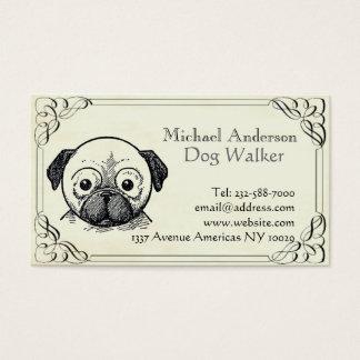 Tierarzt- und Haustiersitzen Visitenkarte