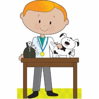Tierarzt und Hund Fotoausschnitt