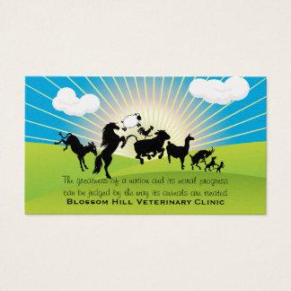 Tierärztliche Tanzen-Tier-Visitenkarte Visitenkarte