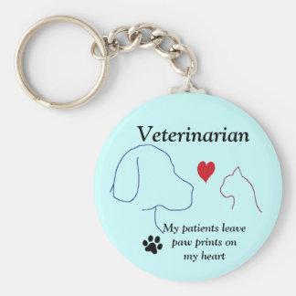 Tierärztliche Tatzen-Drucke auf meinem Herzen #2 Schlüsselanhänger