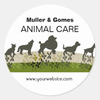 Tierärztliche Tierpflege-Verabredungs-Erinnerung Runder Aufkleber