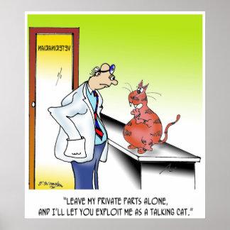 Tierärztlicher Cartoon 9480 Poster