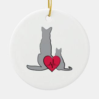 Tierärztliches Logo Keramik Ornament