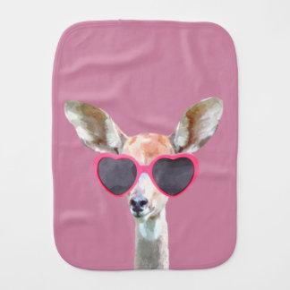 Tierbaby der Antilope niedliches und lustiges Spucktuch