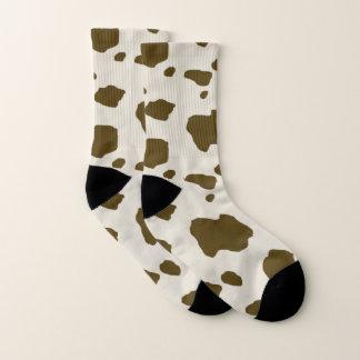 Tierbrown-Kuh-Stellen Socken