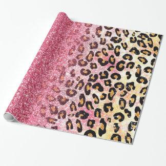 Tierdruck des niedlichen rosa geschenkpapier
