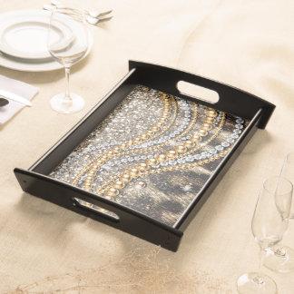 Tierdruck des schönen trendy Leopard-Imitats Tablett