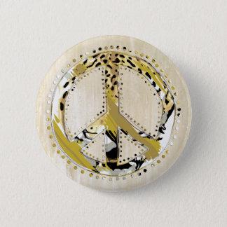 Tierdruck-Friedenszeichen I + Ihr backgr. u. Ideen Runder Button 5,1 Cm
