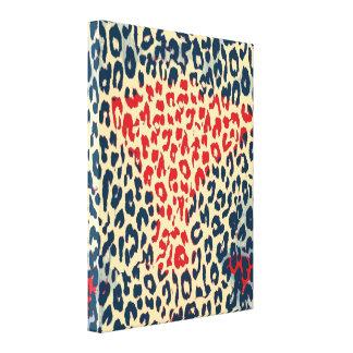 Tierdruck-Haut des Leoparden - schöne Kunst 3 Leinwanddruck