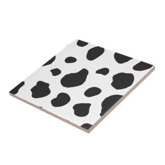 Tierdruck, Kuh-Muster, Kuh-Stellen - weißes Fliese