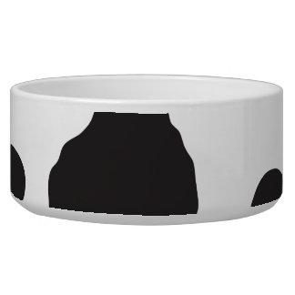 Tierdruck, Kuh-Muster, Kuh-Stellen - weißes Napf