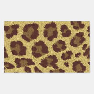 Tierdruck-Leopard Rechteckiger Aufkleber