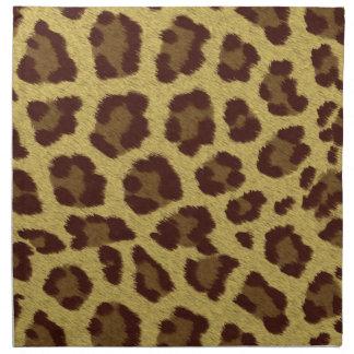 Tierdruck-Leopard Stoffserviette