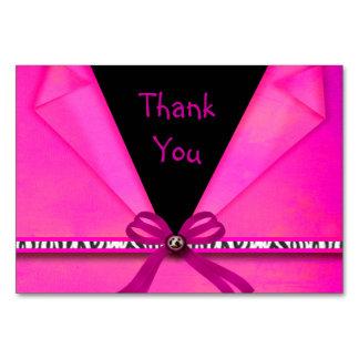 Tierdruck-Pink u. Schwarzes gefalteter Bonbon 16 Karte