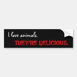 Tiere der Liebe I., sind SIE KÖSTLICH Autoaufkleber