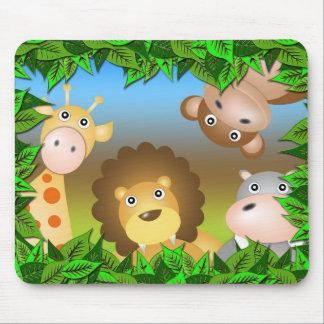 Tiere im Wald Mauspads