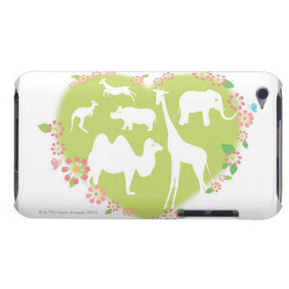 Tiere in einer Herz-Form iPod Touch Cover