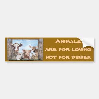 Tiere sind für das Lieben Autoaufkleber