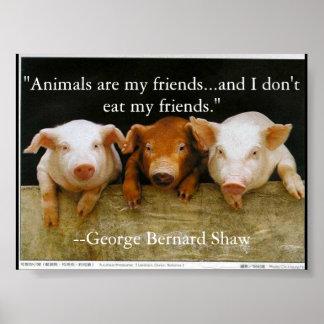 Tiere sind meine Freunde Poster