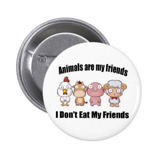 Tiere sind meine Freunde Runder Button 5,7 Cm