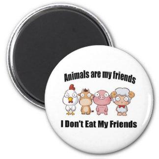 Tiere sind meine Freunde Runder Magnet 5,7 Cm