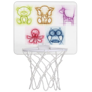 Tierfarben Mini Basketball Netz