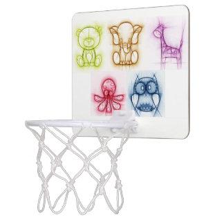 Tierfarben Mini Basketball Ring