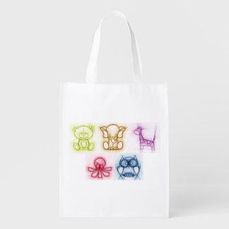 Tierfarben Wiederverwendbare Einkaufstasche