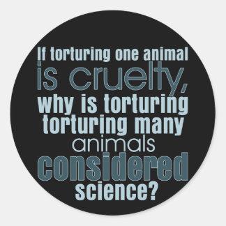 Tierfolterung Runde Sticker