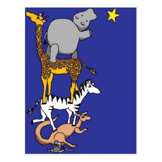 Tierfreunde und ein Stern Postkarte