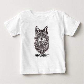 Tierinstinkt - Wolf-grafische T - Shirt-T-Shirts Baby T-shirt