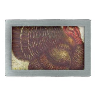 Tierischer Vintager Erntedank der Vogel-Türkei Rechteckige Gürtelschnallen