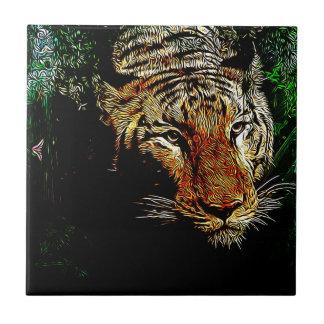 tierischer wilder Tiger Dschungelder Keramikfliese