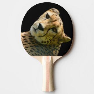 Tierisches wildes Cheetahdschungel-Zoo-Foto Tischtennis Schläger