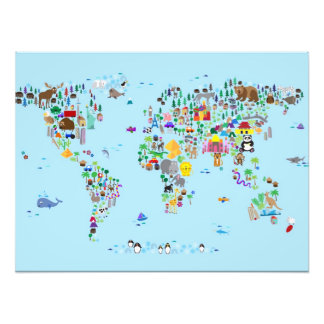 Tierkarte der Welt Fotografien