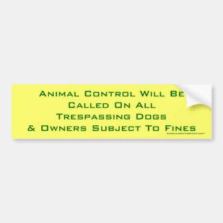 TierKontrolle Autoaufkleber