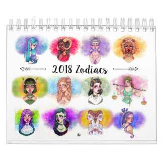 Tierkreis 2018 unterzeichnet Kalender