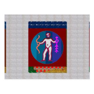 TIERKREIS Astrologie Practioner Geschäft Goodluck Postkarte