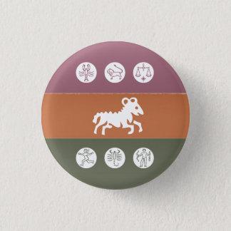 Tierkreis-Astrologie-Symbol: BirthStar Goodluck Runder Button 2,5 Cm