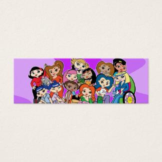Tierkreis Girlz Gruppen-Visitenkarte Mini-Visitenkarten