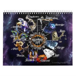 Tierkreis-Grafik-Kalender Wandkalender