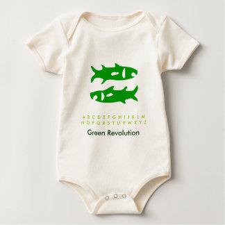 Tierkreis-grüne Fische Baby Strampler