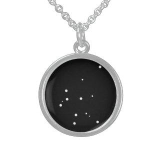 Tierkreis-Halskette: Wassermann Sterling Silberkette