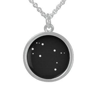Tierkreis-Halskette: Zwillings-runde hängende Sterling Silberkette