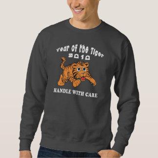 Tierkreis-Jahr des Tiger-Baby-Tigers 2010 Sweatshirt