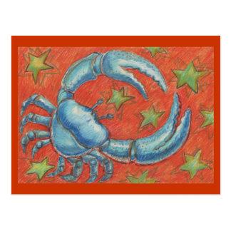 Tierkreis-Krebspostkarte Postkarte