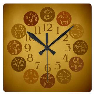 Zodiac Wheel Horoscope Signs Warm Gold