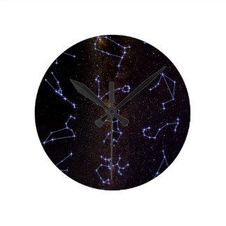 Tierkreis-Sternzeichen Runde Wanduhr