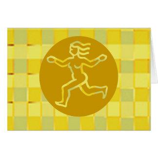 Tierkreis-Symbole auf goldenen Rahmen Karte
