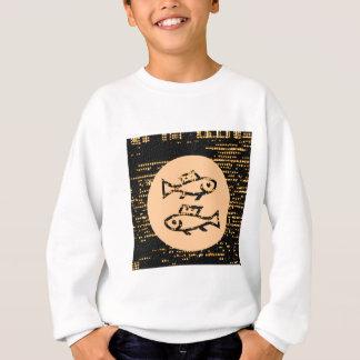 Tierkreis-Symbole auf Goldschein-nächtlichem Sweatshirt